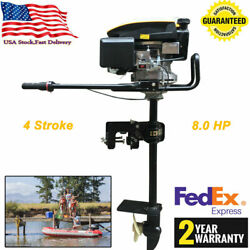 8.0hp 4stroke New Heavy Duty Outboard Motor Boat Engine W/ Air Cooling System Us