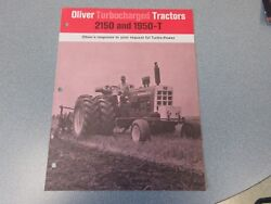 Rare Oliver 1950-t And 2150 Farm Tractor Sales Brochure 1968