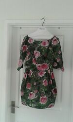 ladies size 10 dress RED Valantino   800£ BARGAIN perfect wedding guest dress