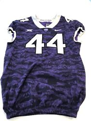 Game Worn Used Nike Tcu Horned Frogs Football Jersey Size 48 44