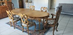 French Country Dining Set Antique Authentic Table And Chairs