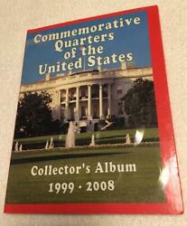 Commemorative Quarters Of The United States Collector's Album 1999-2008filled