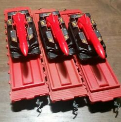 Ho Scale 3 Great Northern Flat Cars W/3 Matchbox 164 Scale 2017 Attack Tracks