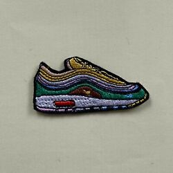 Iron On Patch - Sean Wotherspoon Nike Air Max Trainers Embroidered Hip Hop Rap