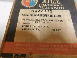 Nu 279-12 M.s. Low And Reverse Gear For 1958-62 Ford 8 Cylinder W/o Overdrive