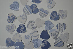 Beautiful Vintage Wedding Table Confetti In Blue Stunning Exquisite Prints