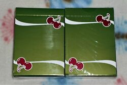 1 Deck Cherry Casino Fremonts Sahara Green Playing Cards-s103049613-乙g3