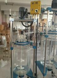 10l Jacketed Glass Chemical Reactor Vessel Explosion Proof Customizable Y