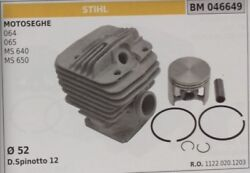11220201203 Cylinder And Piston Complete Chainsaw Stihl 064 065 Ms 640 650 Andoslash 52
