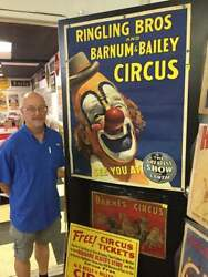 Original 1940and039s Ringling Bros Bb Circus Lou Jacobs Clown Poster 41 X 53.25 Inch
