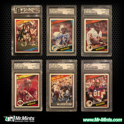 1984 Topps Football Complete Autographed Signed Set - All 396 Cards Auto'd RARE