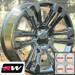22 X9 Inch Gmc Sierra 1500 Oem Specs Denali Wheels 2017 2018 Chrome Rims 6x5.50