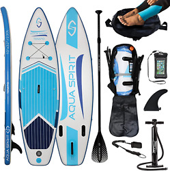 Inflatable Paddle Board Sup Stand Up Paddleboard And Accessories Aqua Spirit Set