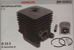 Cylinder And Piston Complete Trimmer Homelite S25 S 25 Ø 33,5