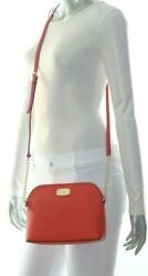 Michael Kors Cindy Large Dome Crossbody Leather Sienna 35S6SCPC3L NWT $228.00 $99.00
