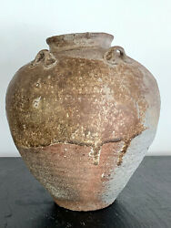 Antique Chinese Ceramic Storage Jar Song-yuan Dynasty