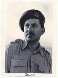 Judaica Rare Old Large Photo Of Chaim Herzog President Of Israel As Idf Officer