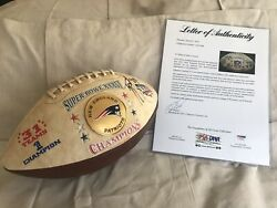 2002 New England Patriots Special Commemorative Signed Football PSA Auth