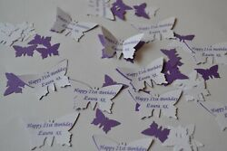 STUNNING Personalised 3D BUTTERFLIES with NAMES DATE message for any occasion