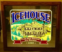 Dorm Cave Gift ICEHOUSE Plank Road Brewery LIGHT UP Mirrored SIGN Cabinet Style