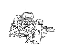 TOYOTA PRIUS BRAKE BOOSTER ASSEMBLY WITH MASTER CYLINDER  FITS 2011-2014