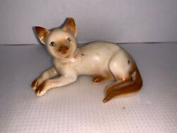 vintage porcelain siamese cat japan 4 1 2""