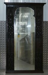 VERY RARE 16TH CENTURY GOTHIC TRACERY DECORATION WALL MIRROR HAND CARVED SUPER