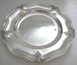 A Gorgeous French Sterling Silver Big Round Plate Or Tray Produced By Puiforcat