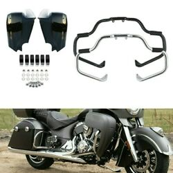Mustache Engine Guard Bar Lower Vented Fairing Fit For Indian Chieftain 14-20 19