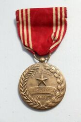 """Original Wwii U.s. Army """"good Conduct"""" Medal And Ribbon, Named"""
