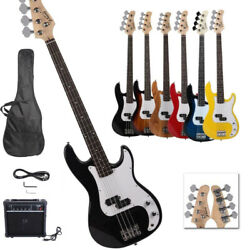 New Professional 7 Colors 4 String Gp Glarry Electric Bass Guitar With 20w Amp