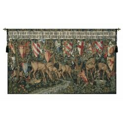 Reindeer Verdure Arms Of Knights Of The Round Table Holy Grail Tapestry Wall Art