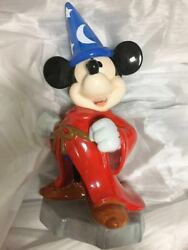 Disney Fantasia Mickey Mouse Witch Pottery Piggy Bank Big Figures Doll
