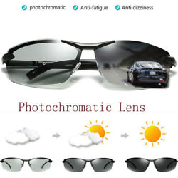 Polarized Photochromic Sunglasses Mens Pilot UV400 Driving Transition Sunglasses $13.99