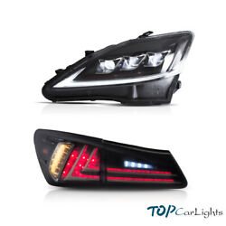 Vland Full Led Headlights And Smoked Tail Lights For 2006-2012 Lexus Is250 350 Isf