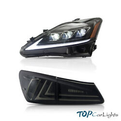 Clear Head Lights And Smoked Tail Lights For 2006-2013 Lexus Is250 350 Isf Led