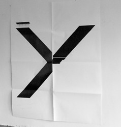 Wade Guyton X Poster (Untitled 2007)  2019 X Print Limited Edition Signed