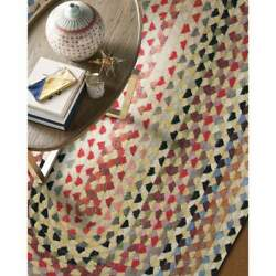 Capel Rugs St. Johnsbury Wool Heavy Double Braid Country Lt. Gold Braided Rug