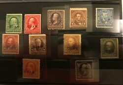 Stamps Collection Guam Scott1-8 10-12 Mint Og 1-8 And 11 Nh 10 H 12 Lh