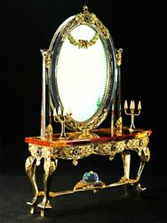 Asfour Crystal Gift-victorian Console And Mirror-homeandoffice Decor-made In Egypt