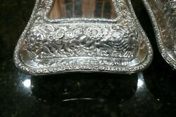 Pair Of Antique 1885 Edward Moore/ And Co. Repoussandeacute Covered Casseroles