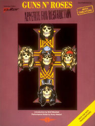 Guns Nand039 Roses - Appetite For Destruction Guitar Learn To Play Music Book