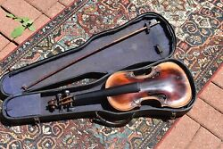 Very Decorative Antique Violin.   One of a kind . JM White Maker .