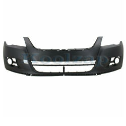 09 10 11 Vw Tiguan Front Bumper Cover Assembly Primed W/o Headlight Washer Holes