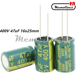 10/20/50/100pc High Frequency Low Radial 400v47uf 16x25mm Electrolytic Capacitor