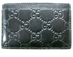 New Gucci Genuine Leather Business & Credit Card Case