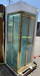 Beautiful Shower Unit Gold Plated Fixtures Lockheed L1011 Luxury Airplane