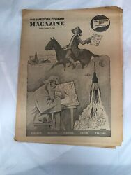 Hartford Courant Newspaper Magazine October 11 1964 Connecticut Pull Out Section