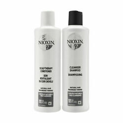 Nioxin System 2 Cleanser Shampoo And Scalp Therapy Conditioner Duo Set 10.1 Oz