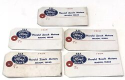 5 Vintage Ford To From Gift Parts Id Tags Texas Dealership Nos For Mustang F150
